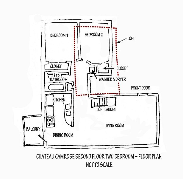 Two Bedroom Plan Drawing